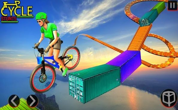 BMX自行车坡道特技