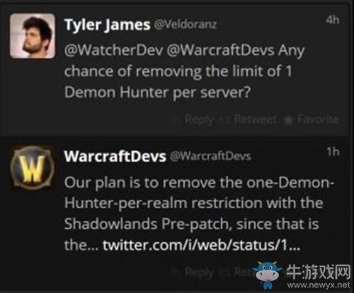 《魔兽世界》9.0个人同服务器DH数量限制介绍