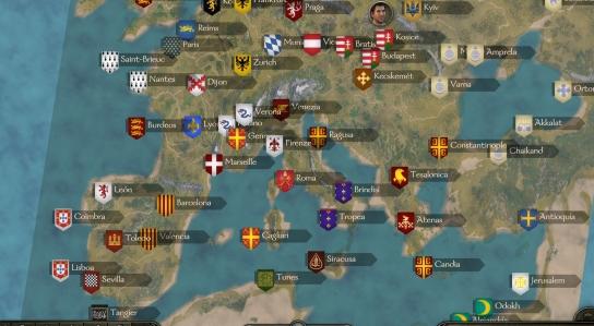 《骑马与砍杀2》卡拉迪亚转化欧洲地图MOD