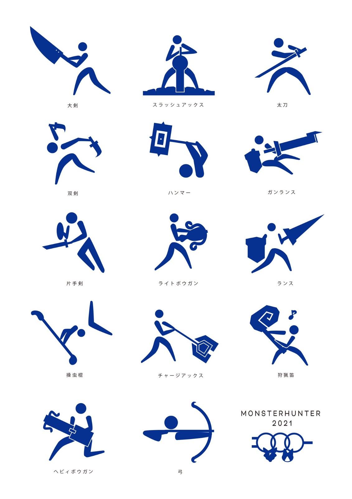 日本东京奥运:网友恶搞JOJO怪猎创意图标