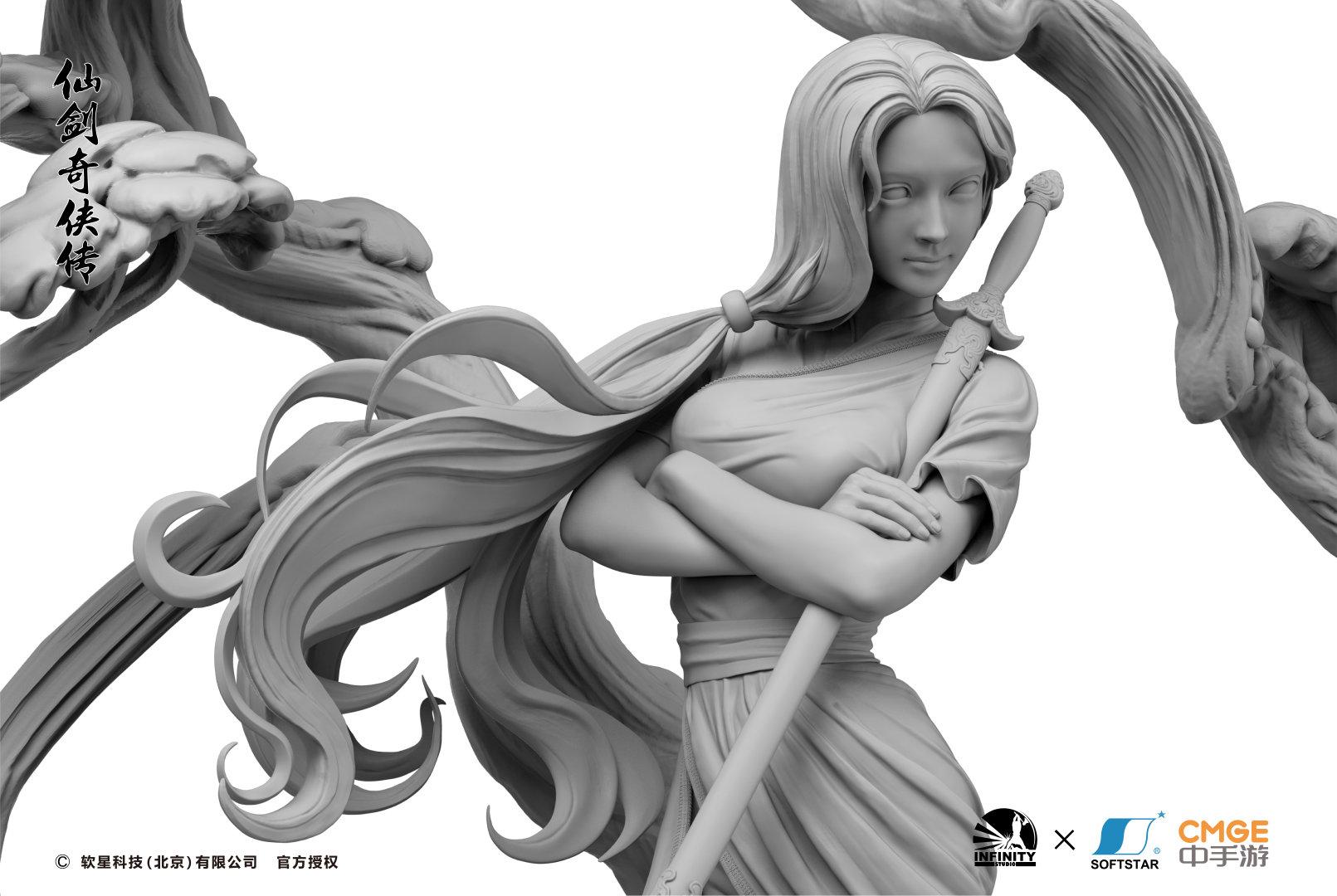 开天工作室《仙剑》雕像角色公布信息展示