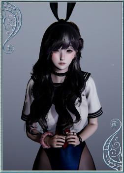 《AI少女》黑色卷发性感水手服美少女MOD