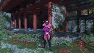 《只狼:影逝二度》紫色女性阿加配龙狼外观MOD