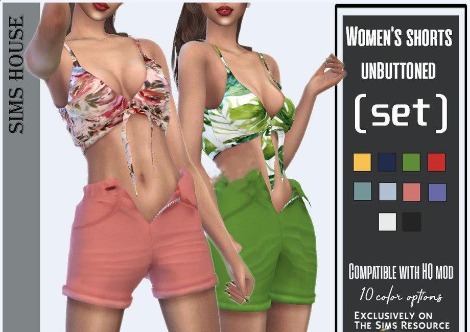 《模拟人生4》女性不系扣短裤MOD