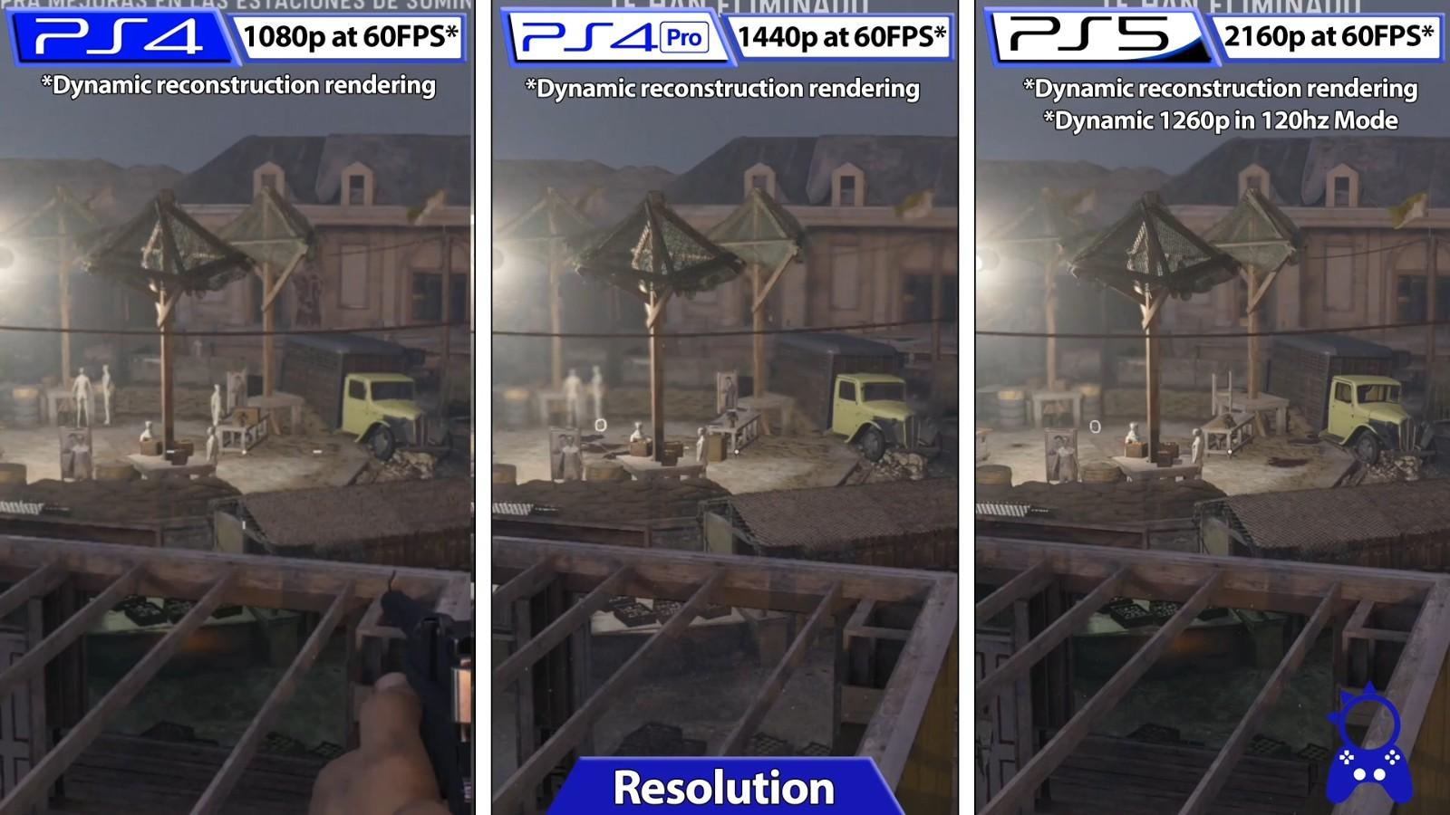 《使命召唤18:先锋》PS4、PS5和PS4 Pro三个平台效果对比