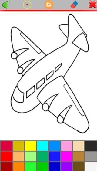 儿童涂色怪兽飞机
