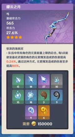 《原神》2.2版本新增武器属性突破材料一览