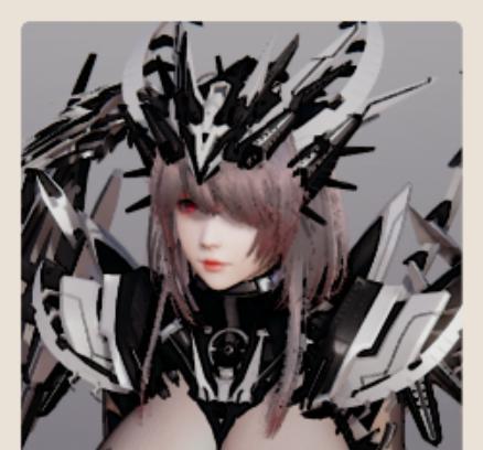 《AI少女》性感比基尼铠甲银发御姐MOD