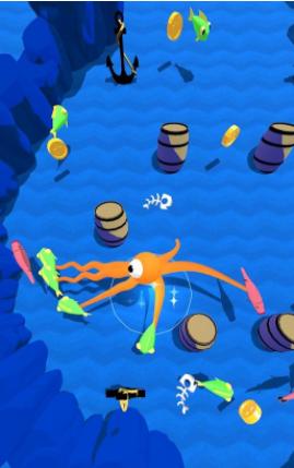鱿鱼吃鱼跑