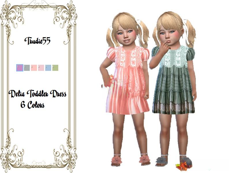 《模拟人生4》幼儿的褶皱连衣裙MOD