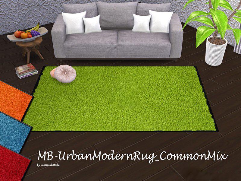 《模拟人生4》纯色毛绒地毯MOD