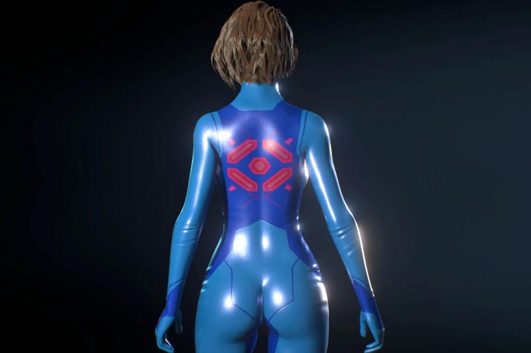 《生化危机3:重制版》吉尔银河战士蓝色紧身衣MOD