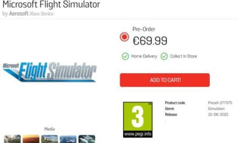 6月15日发售《微软飞行模拟》最新消息泄露