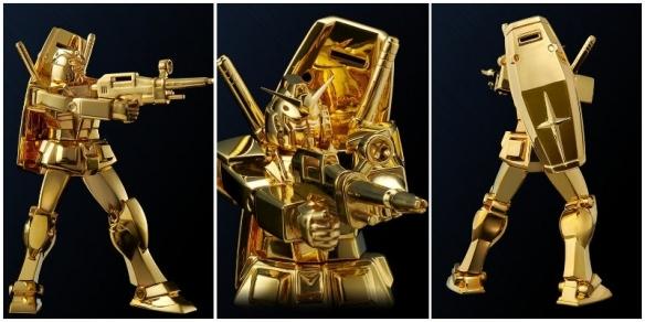 168万天价24K纯金高达模型!全球限量发售。