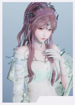 《AI少女》粉红色马尾辫绿色薄纱小姐姐MOD