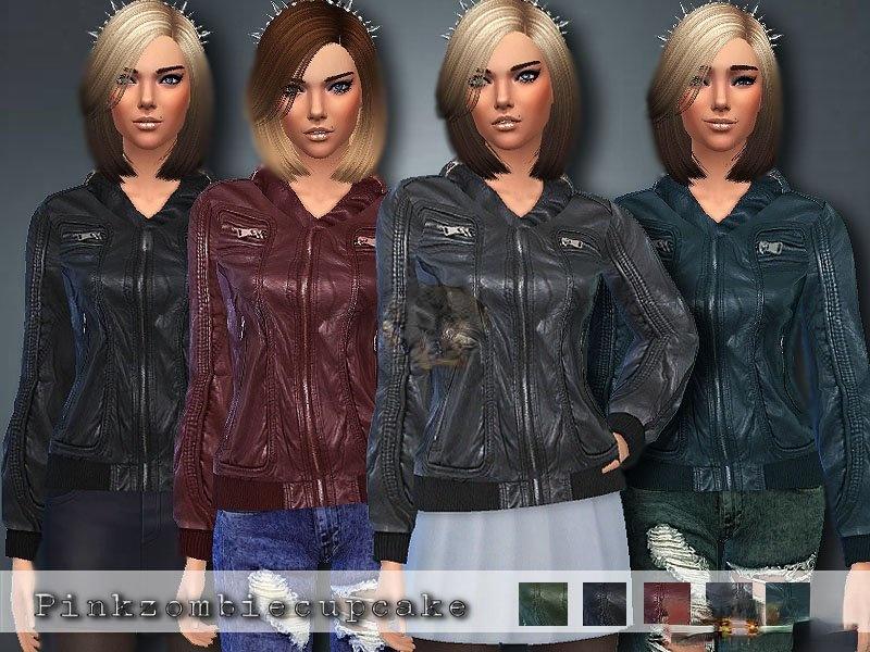 《模拟人生4》女性拉链皮夹克MOD