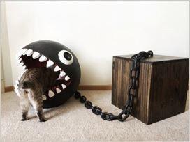 《马里奥》系列经典敌人实体化:被改造成猫窝