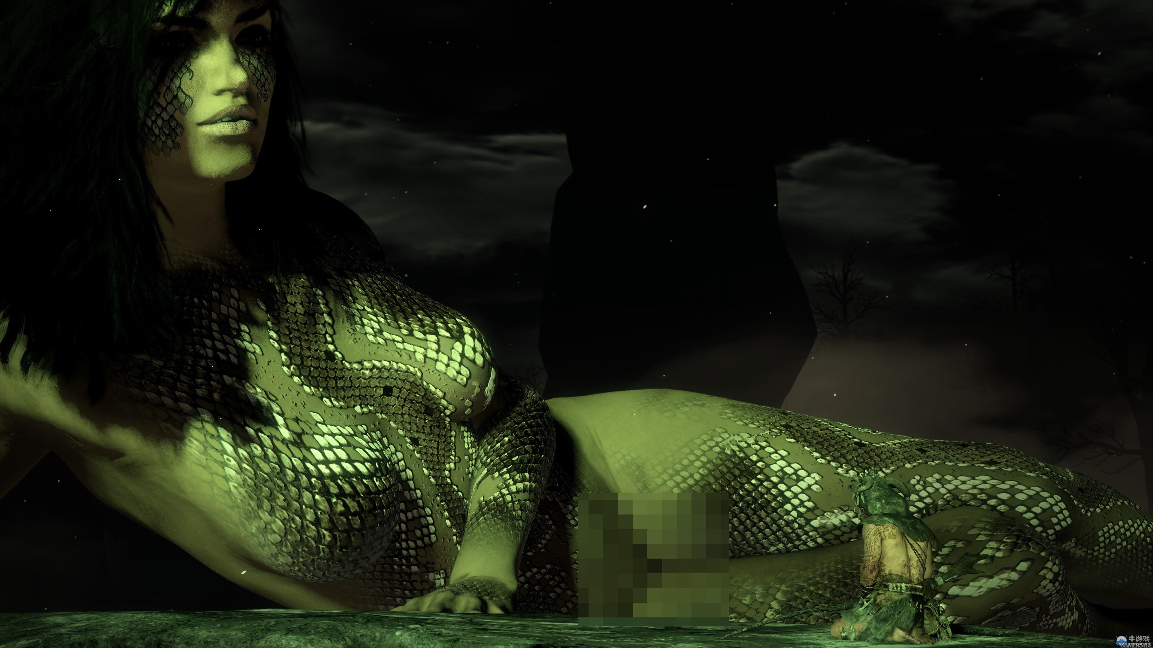 《狂野》公开艺术截图 裸体蛇女紧闭双腿
