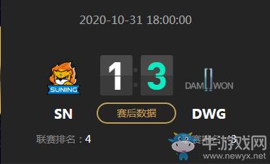 《LOL》S10决赛10月31日SN VS DWG比赛视频